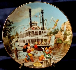Disney Collector Plate Mark Twain Riverboat 1996 8th Disneyland 40th SOLD