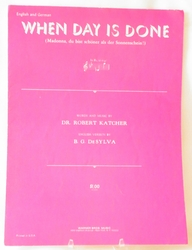 Sheet Music When Day is Done 1926