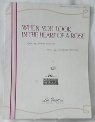 Sheet Music When You Look in the Heart of a Rose 1918