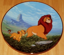 Disney Collector Plate Lion King Like Father, Like Son 1995 2nd Issue