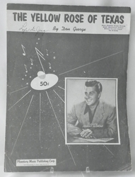 Sheet Music The Yellow Rose of Texas 1955