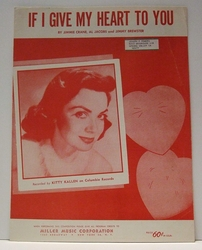 If I Give My Heart To You - Sheet Music