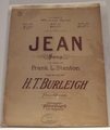 Collectible Sheet Music Jean