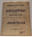 Collectible Sheet Music Go To Sleep, My Baby