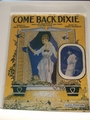 Collectible Sheet Music Come Back, Dixie Farm
