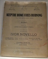 Collectible Sheet Music Keep The Home Fires Burning