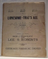 Collectible Sheet Music Lonesome - That's All
