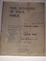 Collectible Sheet Music The Sunshine Of Your Smile