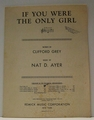 If You Were The Only Girl � Sheet Music