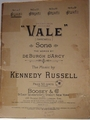 Vale (Farewell) - Sheet Music