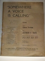 Collectible Sheet Music Somewhere A Voice Is Calling