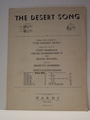 Collectible Sheet Music The Desert Song