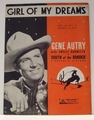 Girl of My Dreams Gene Autry - Sheet Music