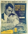Sheet Music I'll Sing you a Thousand Love Songs Gable and Davies