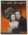 If I Had My Way Bing Crosby - Sheet Music