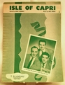 Sheet Music Isle of Capri The Gaylords 1934