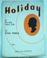 Sheet Music Holiday 1934