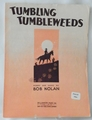 Sheet Music Tumbling Tumbleweeds 1934