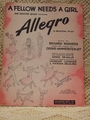 Collectible Sheet Music A Fellow Needs A Girl Allegro