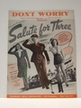 Collectible Sheet Music Don't Worry from Salute for Three