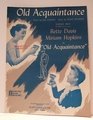 Old Acquaintance - Sheet Music