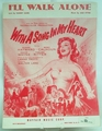 Sheet Music I'll Walk Alone 1944 Susan Hayward