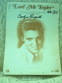 Sheet Music Love Me Tender Elvis Presley