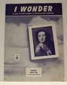 I Wonder - Sheet Music