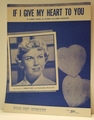 If I Give My Heart To You Doris Day - Sheet Music