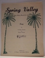 Spring Valley - Sheet Music