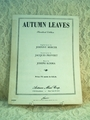 Sheet Music Autumn Leaves