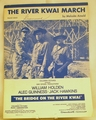 Sheet Music The River Kwai March 1957