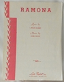 Sheet Music Ramona 1955