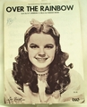 Sheet Music Over the Rainbow Judy Garland