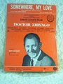Somewhere, My Love Doctor Zhivago Theme - Sheet Music MGM