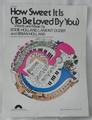 Sheet Music How Sweet It Is (To Be Loved By You) James Taylor 1964