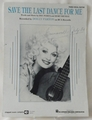 Sheet Music Save The Last Dance for Me Dolly Parton 1960