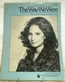 Sheet Music  The Way We Were Barbra Streisand
