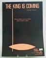 Sheet Music The King is Coming   1970