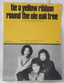 Sheet Music Tie a Yellow Ribbon Round the Ole Oak Tree 1973