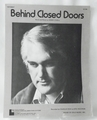 Sheet Music Behind Closed Doors 1973
