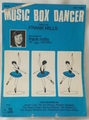 Sheet Music Music Box Dancer Frank Mills 1979