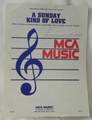 Sheet Music A Sunday Kind of Love Lenny Welch 1972