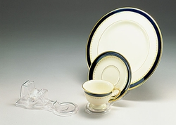 Clear Plastic Three Piece Place Setting Holder