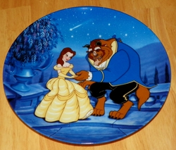 Disney Collector Plate Knowles/Bradford Beauty and the Beast Out of Stock