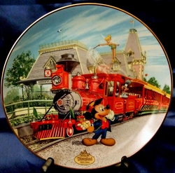 Disney Collector Plate Disneyland Railroad 2nd issue