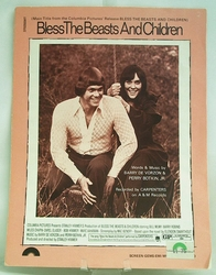 Sheet Music Bless the Beasts and Children 1971