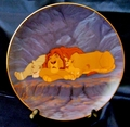 Disney Collector Plate Lion King Rise and Shine 1996 9th Issue