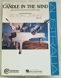 Sheet Music Candle In The Wind Elton John 1973