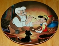 Disney Collector Plate Geppetto Creates Pinocchio from the Pinocchio Series